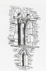 Glentworth St Michael: twin Saxon bell tower openings