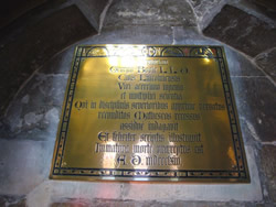 Boole plaque in Cathedral