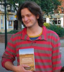 Dr Thomas Green with his book: Britons and Anglo-Saxons in Lincolnshire