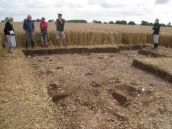 SLHA group at excavation site, Otby Top, Claxby