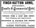 Ewerby, Finch-Hatton Arms, Advertisement