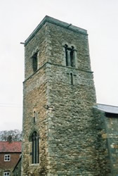 Church tower with twin bell-openings, Glentworth