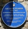 Grantham, King's School, Blue Plaque, Arthur Storer