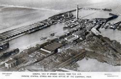 Aerial view of Docks, Grimsby