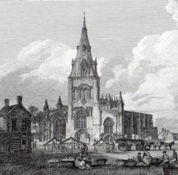 St Denys's Church and the Market Place, Sleaford