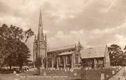 1950s postcard of St Mary & St Nicholas Church, Spalding