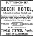 Sutton On Sea, Beech Hotel, Advertisement